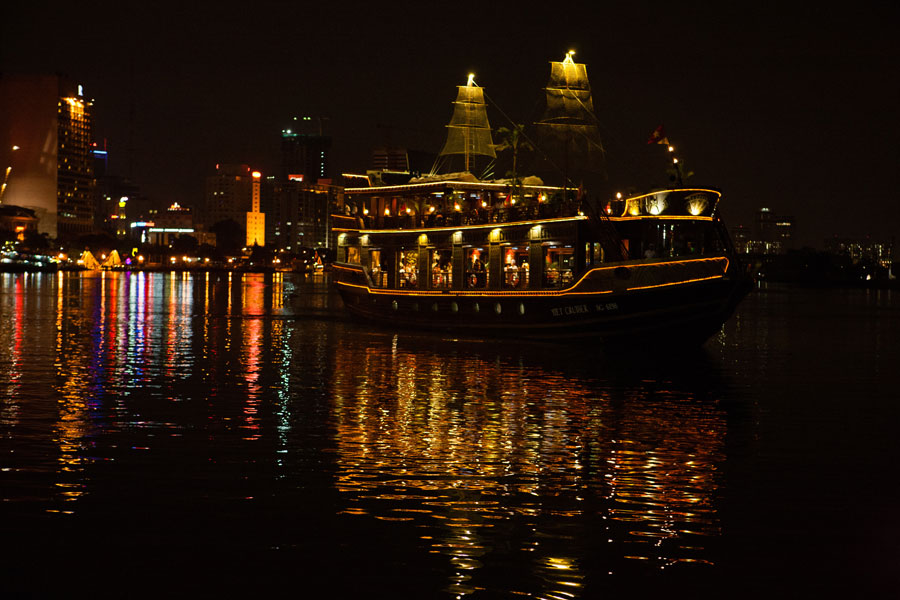Saigon River Cruise by night - Ho Chi Minh City tour